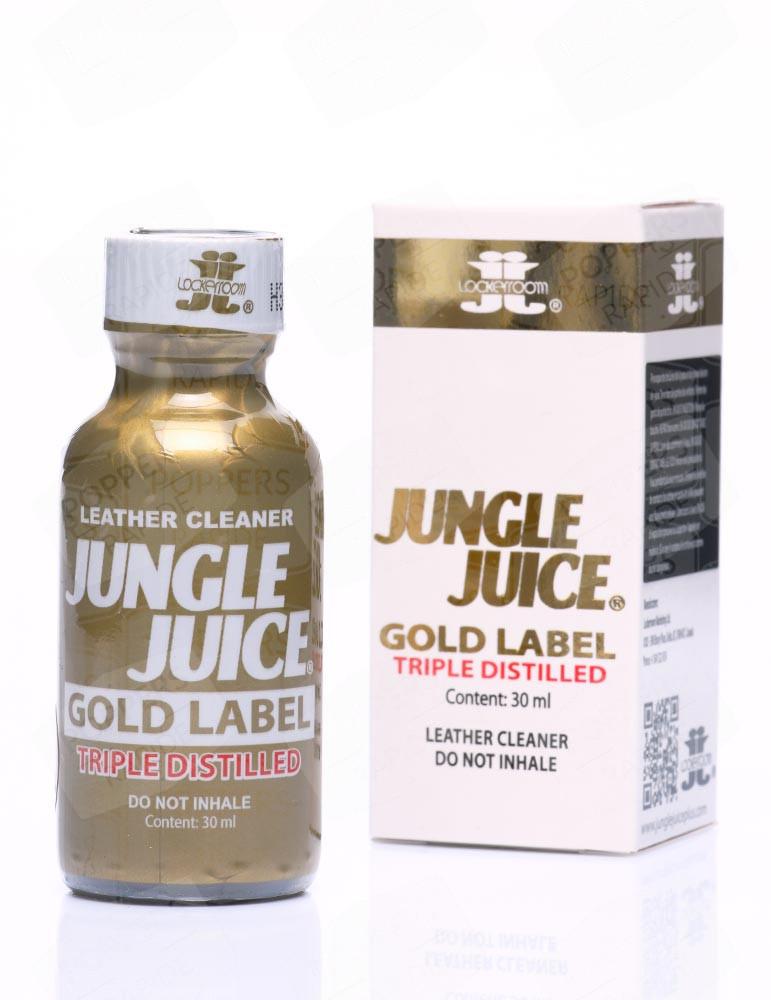 flacon de poppers jungle juice gold label triple distilled 30 ml