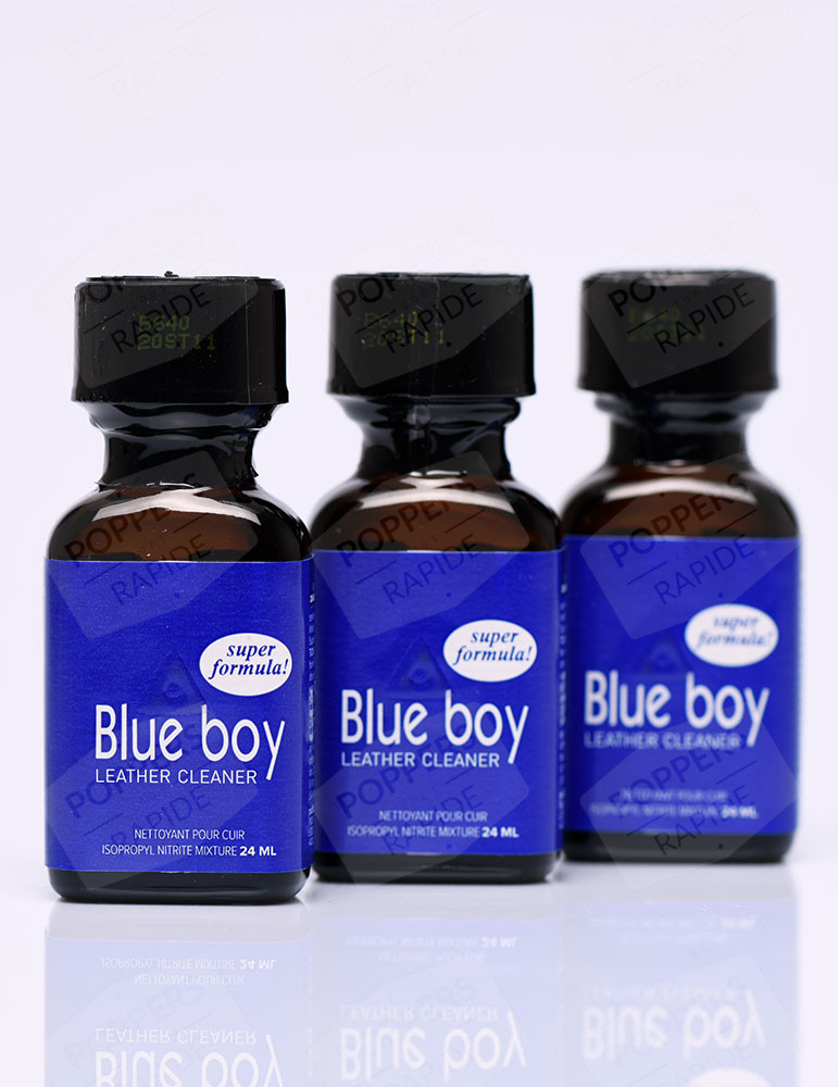 pack de trois flacons de poppers blue boy 24 ml