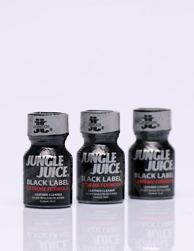 pack de  trois flacons de poppers jungle juice black label 10 ml