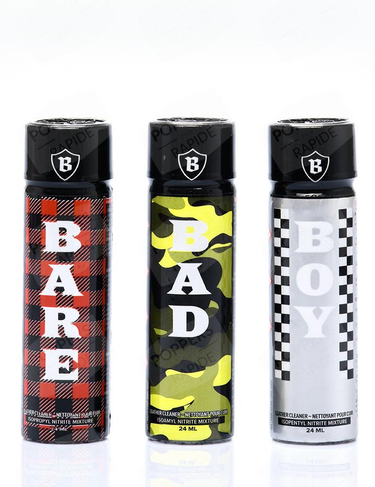 Pack Triple B - 3 poppers : Bad, Bare et Boy