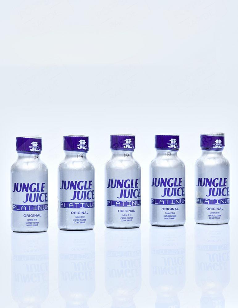 Pack de 5 flacons de Jungle Juice Platinum Poppers 30 ml