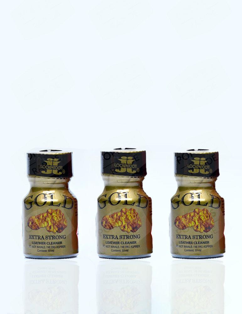 Pack de trois flacons de poppers Gold Lockerroom 10 ml