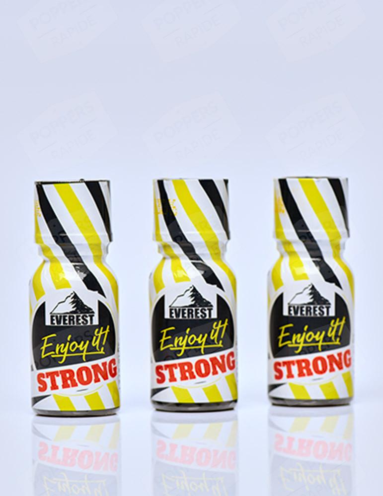 Pack de 3 poppers de 15 ml Everest Enjoy It! Strong 15 ml