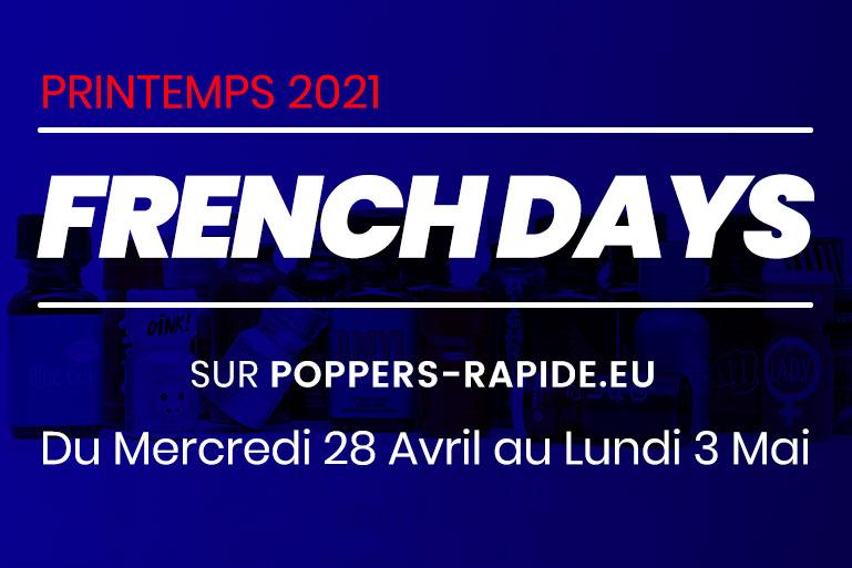 French Days Printemps 2021 : Promos, Nouveautés, Poppers & Plaisir !